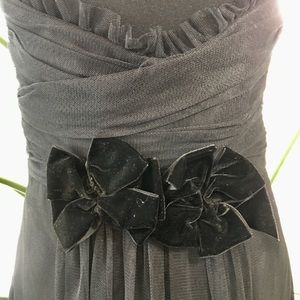 Vera Wang Maids Black Tulle Dress with Train